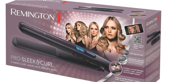plancha de pelo remington sleek & curl s6505