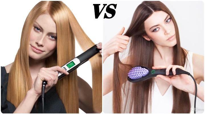 diferencias entre cepillo alisador y plancha de pelo
