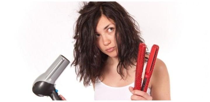 no planchar el pelo mojado