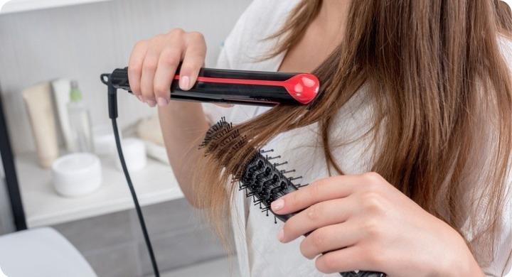 plancha el pelo correctamente